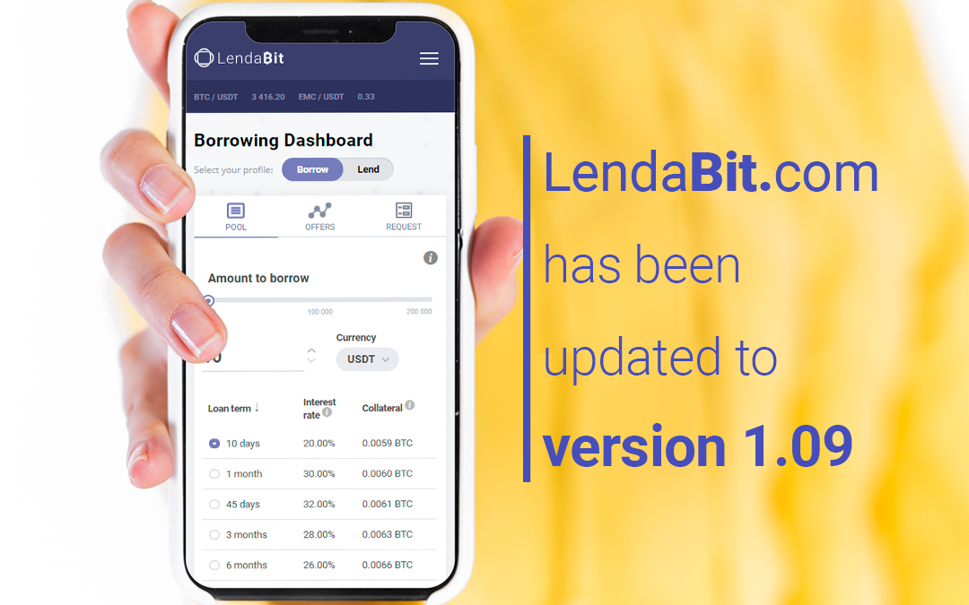 ​​LendaBit.com has been updated to version 1.09